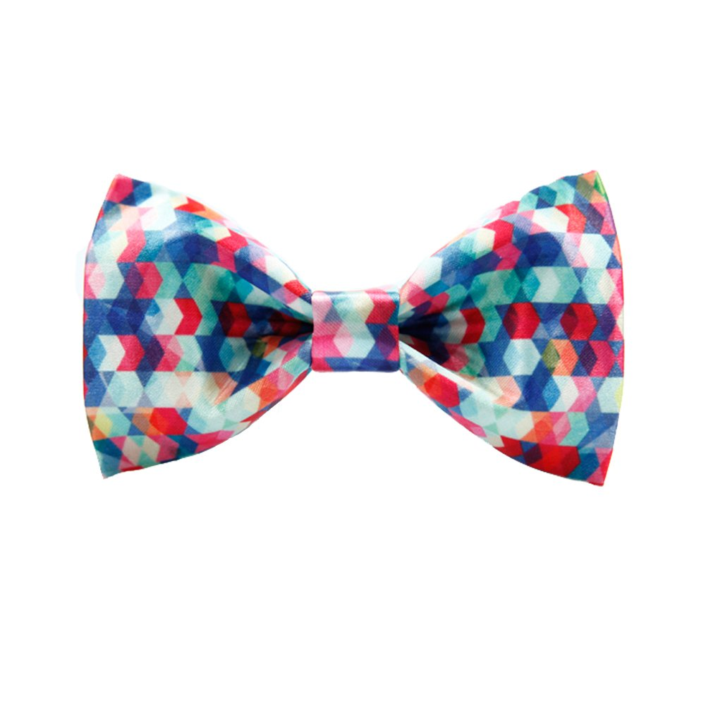 Colorful Spots Bow Tie for Men Adjustable Pre-tied Bowtie Wedding Party Accessories