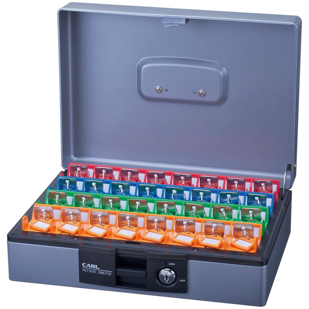 カール事務器 キーボックスデスクトップ 32個収納 CKB-F32-S B00BBNOVMS  鍵収納数32個