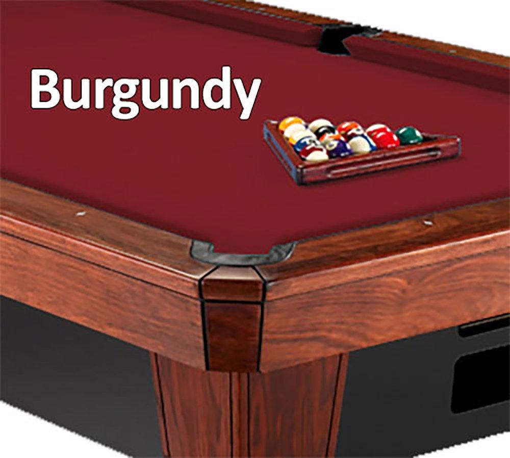 12 'シモニスクロス860 BurgundyビリヤードPool Table Clothフェルト B00K4JK4KS