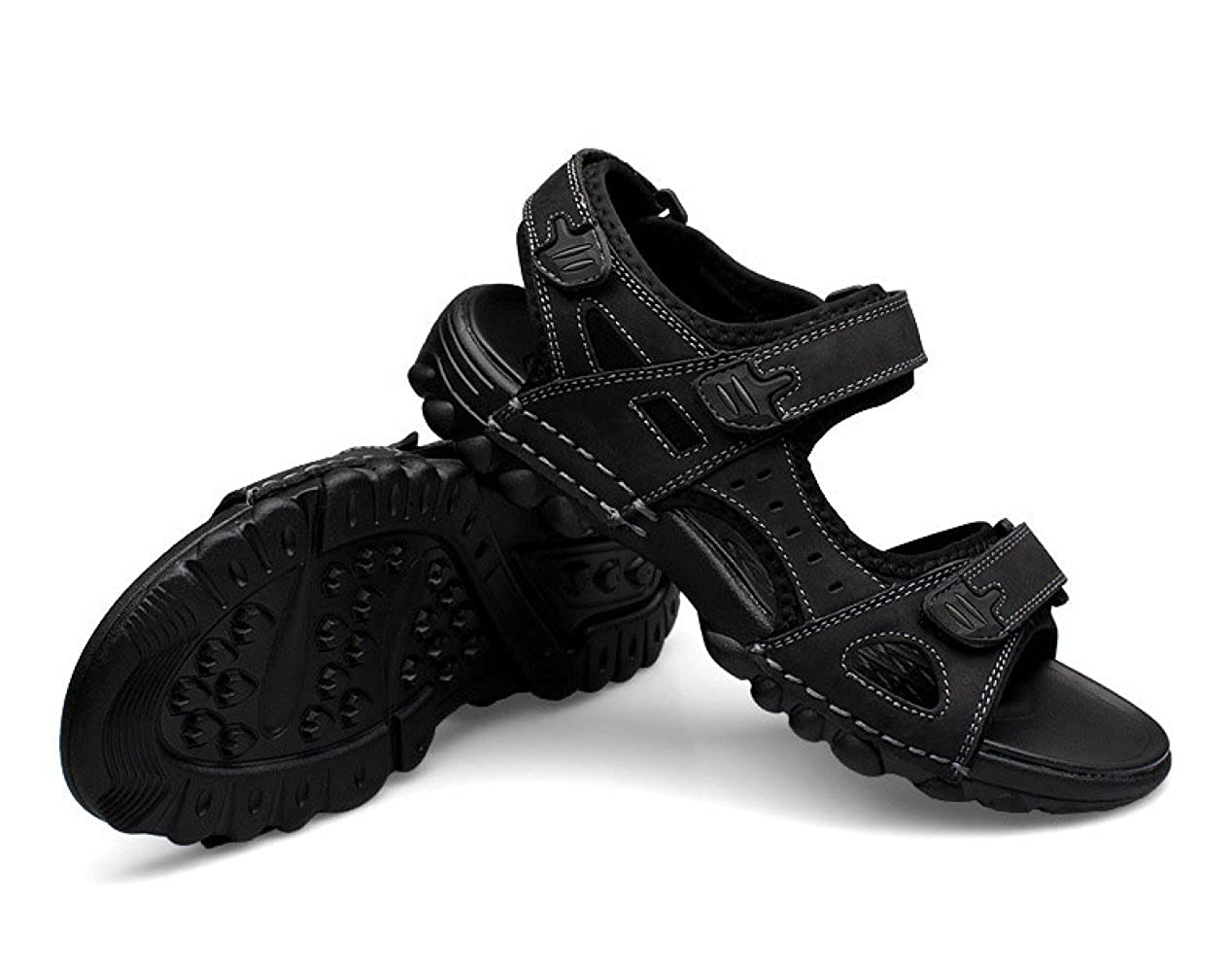 LEDLFIE Herren Sommer Strand Herrenschuhe Schuhe Casual Sandalen Outdoor Herrenschuhe Strand schwarz 87545d