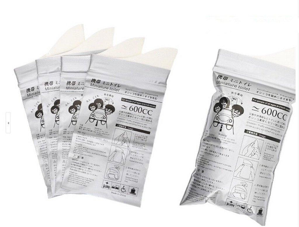 Autek 4 Pack Men or Women Car Convenient Urine Bag Jam Bag Portable Mobile Toilet