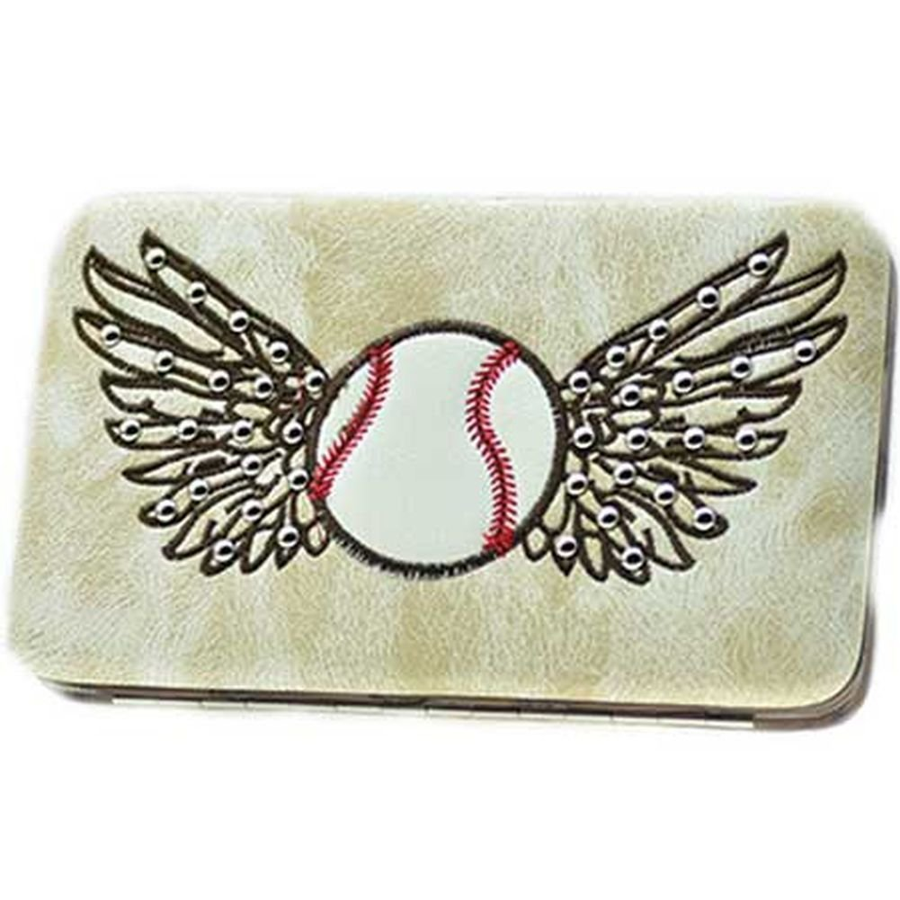 Western Style Women Wallet Rhinestones zebraa buckle camo (Baseball)