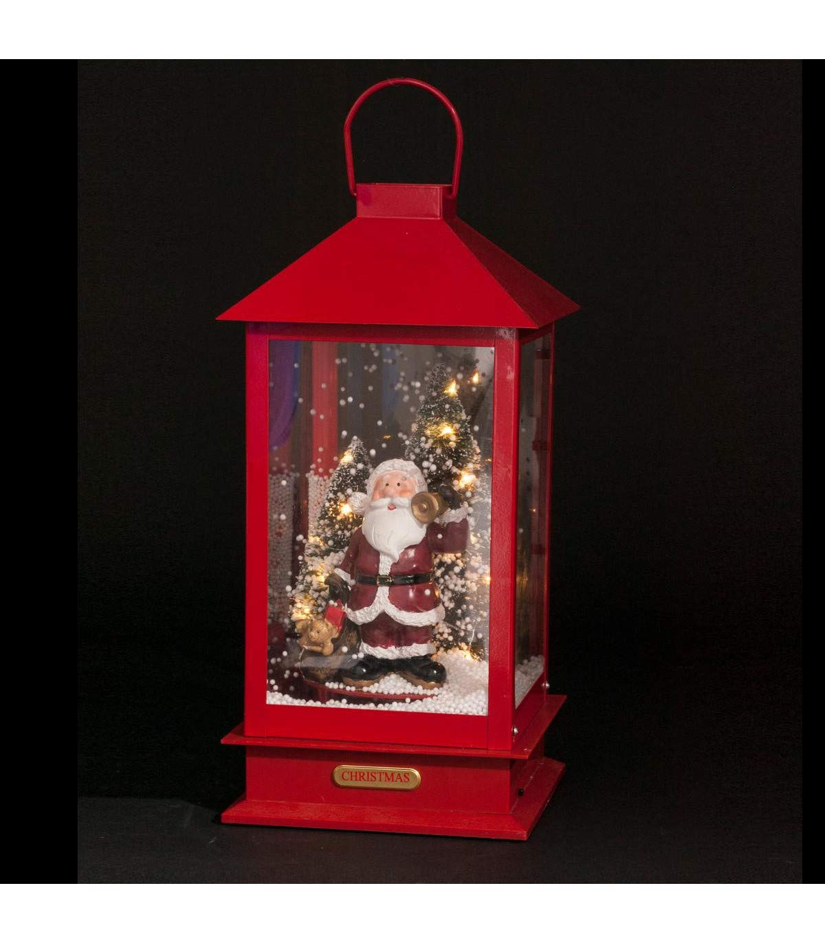D/écoration Lumineuse de No/ël Lanterne anim/ée et Musicale H 38 cm La Maison des Couleurs FEERIC CHRISTMAS