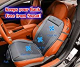 Zento Deals Gray Premium Quality Cooler Seat Cushion 12V- Perfect for Sweaty Back on Intense Summer Days- Convenient, Comforter and Release Cool Air Seat Cushion