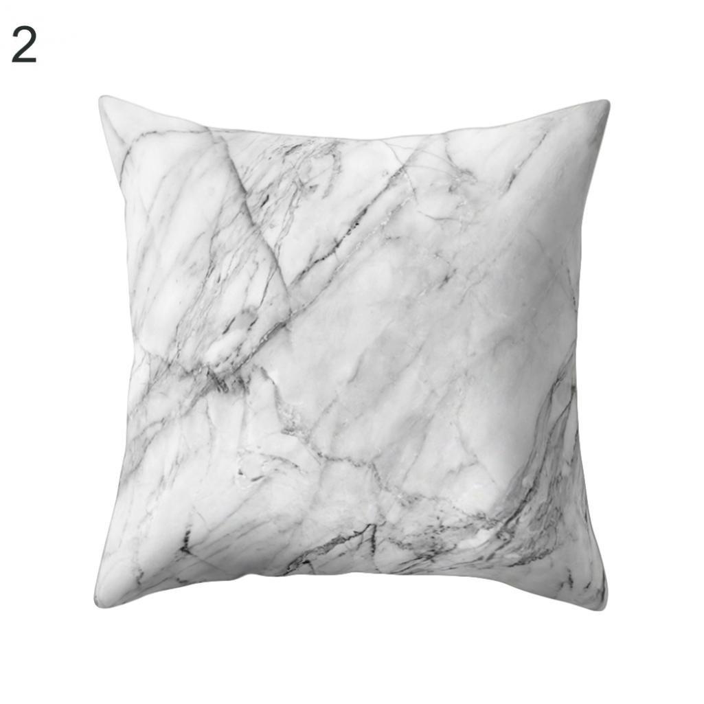 Funda de cojín suave y cómoda con patrón de mármol, funda de ...