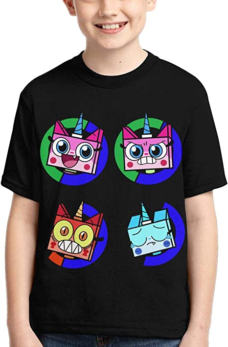 Ltd Shanyujing Jianzhu Co. Unikitty Boys Girls 3D Printed Short Sleeve T-Shirt Casual Shirts Tee