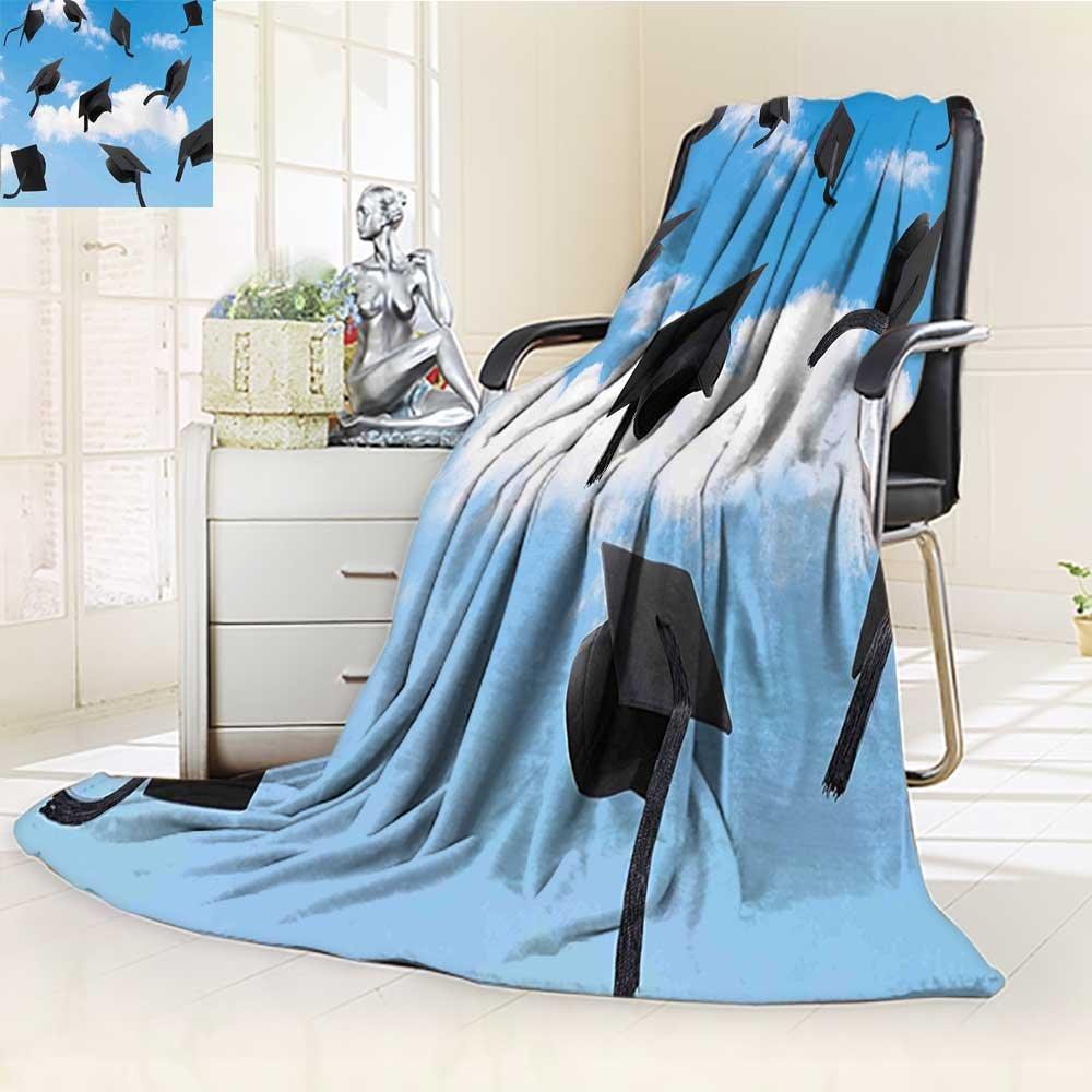 AmaPark Digital Printing Blanket Caps Thrown into Sky Last of The School Highschool College Summer Quilt Comforter