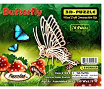 3-D Wooden Puzzle - Small Butterfly -Affordable Gift for your Little One! Item #DCHI-WPZ-E022