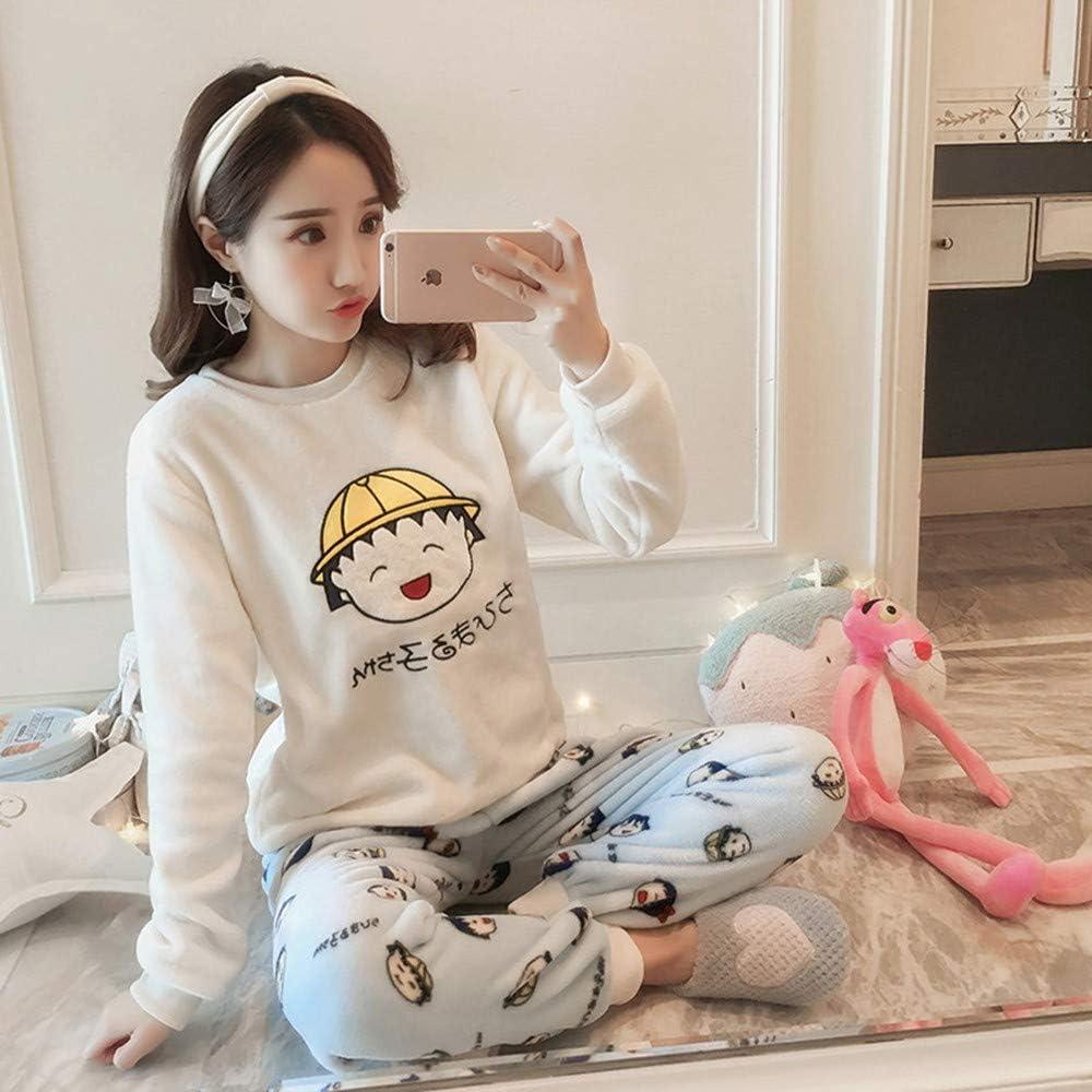 XGBNY Pijamas Invierno Mujer Pijamas Caliente Espesar Pijama ...