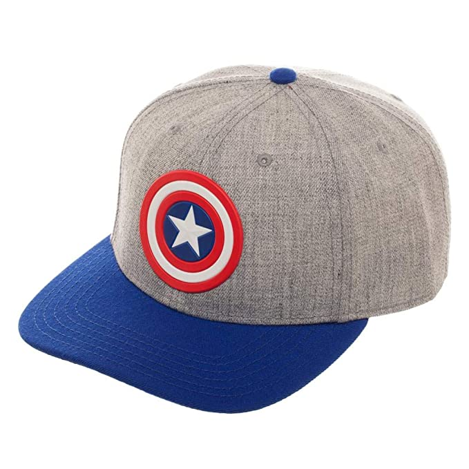 17fc23bc04821 Marvel The Avengers Captain America Pre-Curved Bill Snapback Hat at ...