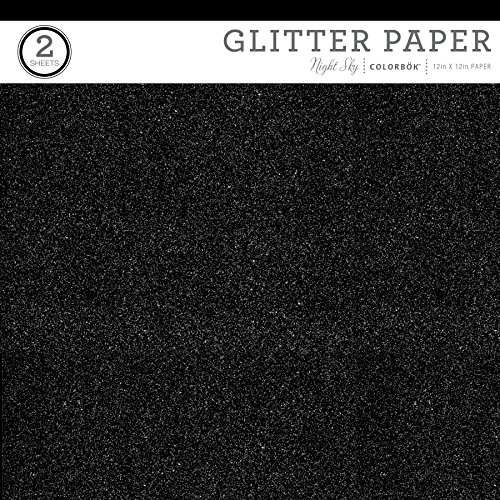 ColorBok Value Glitter Paper, Night Sky, 12'' x 12'' by Colorbok