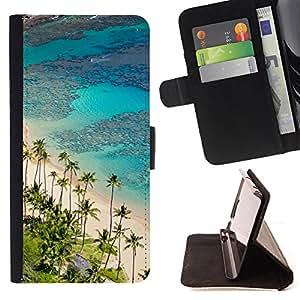 - Hawaii Palm Trees Beach/ Personalizada del estilo del dise???¡Ào de la PU Caso de encargo del cuero del tir????n del soporte d - Cao - For Sony Xperia M2