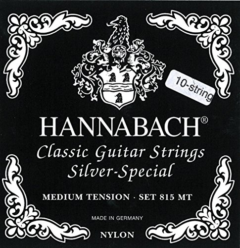Hannabach 815/10 ZMT Silver Special, Set, 10-string Guitar, Medium Tension