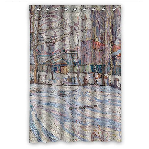 Long Tall Poppies (Slimmingpiggy Polyester Bathroom Curtains Of Abraham Manievich - Winter For Kids Birthday Gf Valentine Father. Durable Width X Height / 48 X 72 Inches / W H 120 By 180 Cm(fabric))