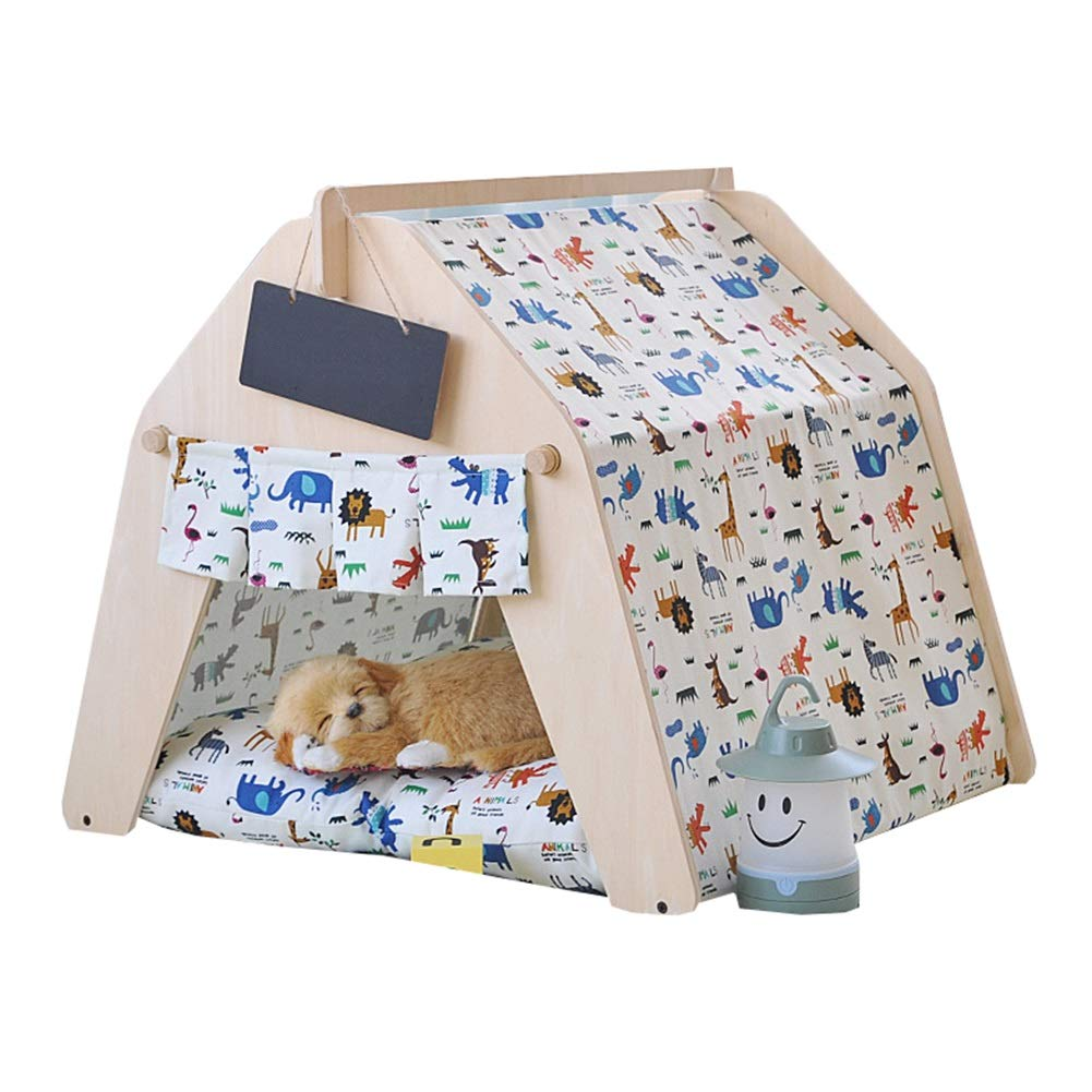 3 (no pad) M 3 (no pad) M Dog Teepe, Dog Puppy Cat Bed Portable House Pet Tent indoor Pet House for Cat Dog Pet Nest (Colore:3 (no pad), Dimensione: M)
