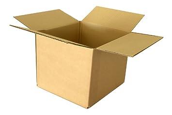 LOTE 10 CAJAS PEQUEÑAS 200x200x150 CARTÓN SIMPLE: Amazon.es: Oficina y papelería