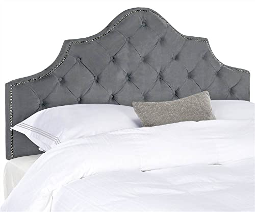 Safavieh Mercer Collection Arebelle Grey Tufted Headboard King