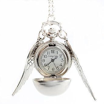 NICERIO Reloj de bolsillo, reloj de bolsillo de cuarzo de ala abierta de ala de