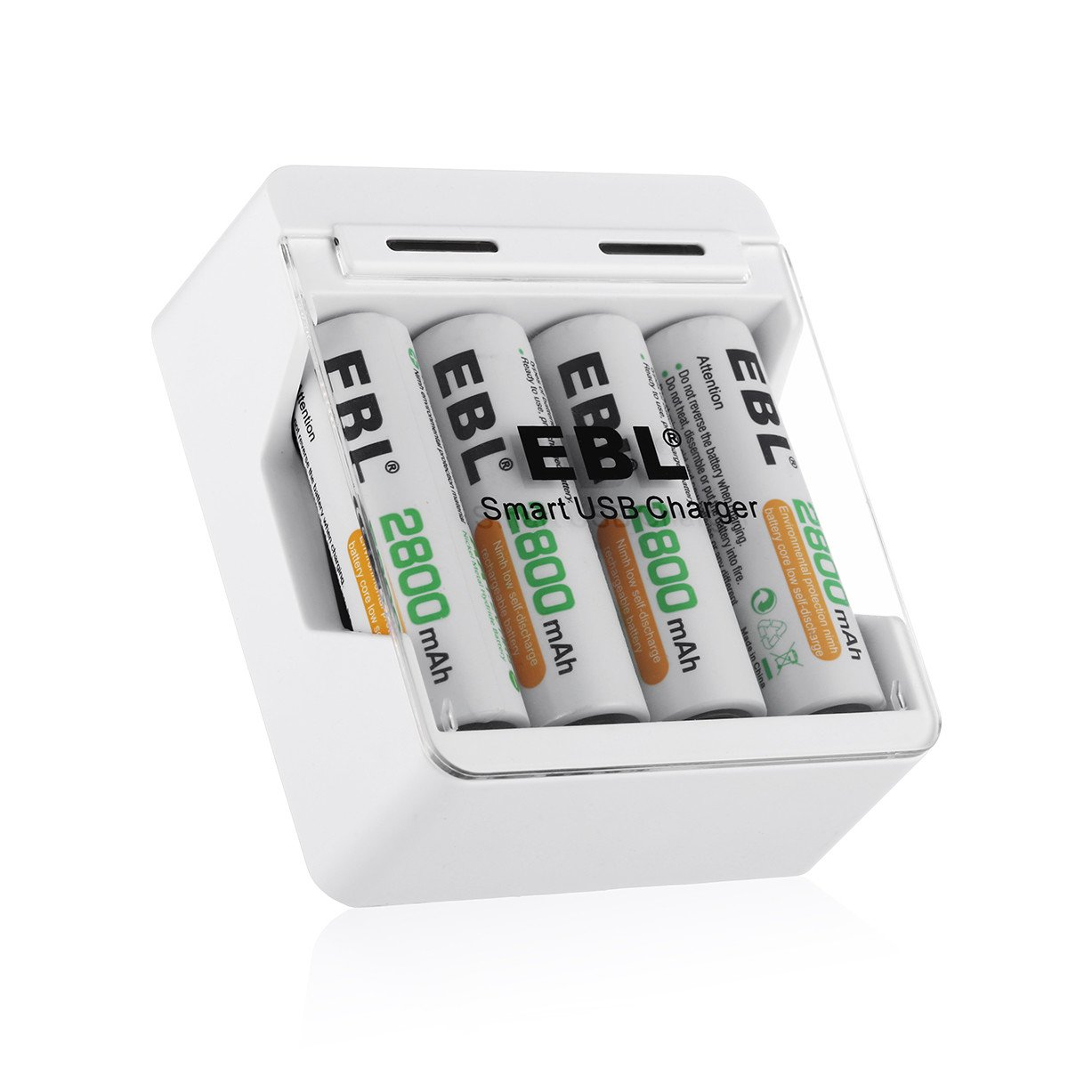 Amazon.com: EBL Smart USB AA AAA Battery Charger and 4 Packs Ni-MH 2800mAh AA Rechargeable Batteries: Home Audio & Theater
