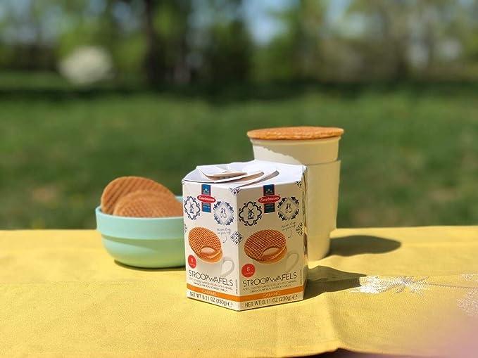 Daelmans Caramel Stroopwafels (galletas rellenas de caramelo) 8 por paquete 230 gr: Amazon.es: Alimentación y bebidas