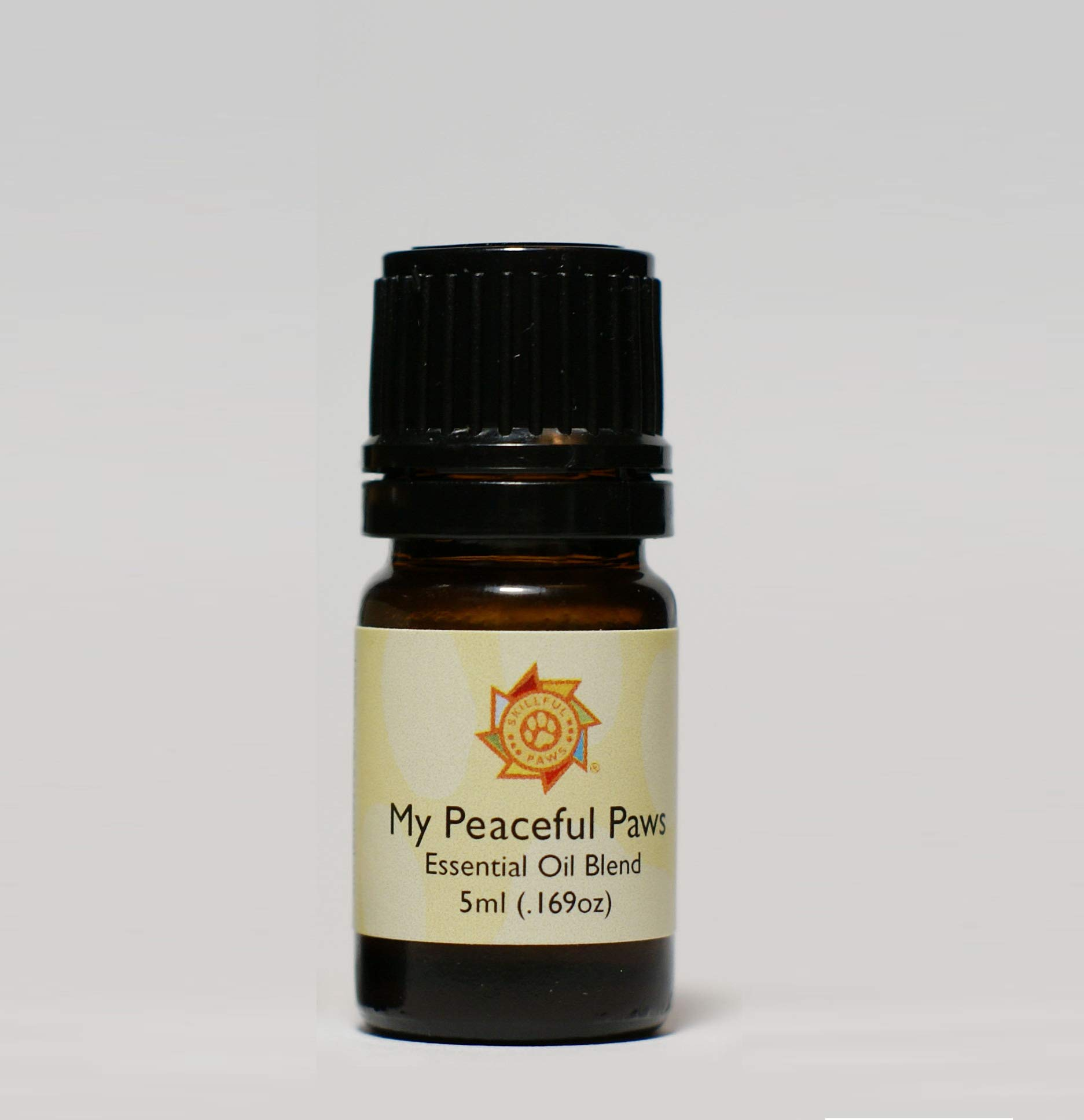 My Peaceful Paws (5ml /.169oz) -Essential Oil - Aromatherapy Calming Blend for Dogs. Topical Application for Separation Anxiety, Fear of Storms, Fireworks, and Stress in Daily Life