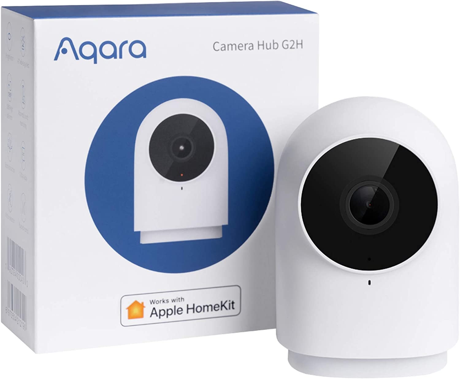 Aqara HomeKit Security Video Indoor Camera G2H, Night Vision, Two-Way Audio, 1080P HD Plug-in Indoor WIFI Camera, Family-Friendly Wireless Video Surveillance System, Smart Home Bridge for Alarm System