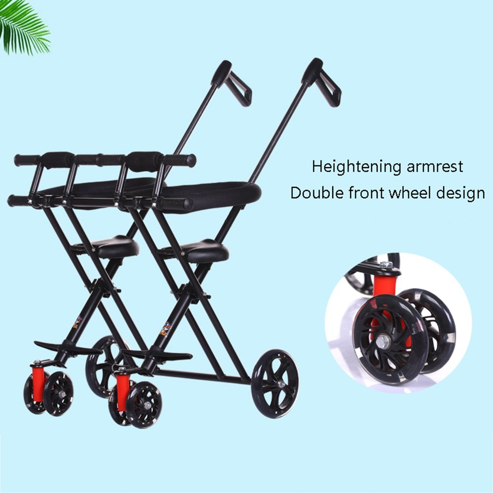 Amazon.com : ZDDAB Twin Baby Artifact Children Trolley ...