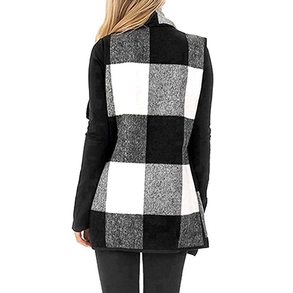 Amazon.com: Womens Coats Winter Clearance!Besde Womens Fashion Casual Warm Lightweight Outwear Vest Plaid Sleeveless Lapel Open Front Cardigan Sherpa ...