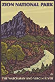 The Watchman - Zion National Park (9x12 Art Print, Wall Decor Travel Poster)