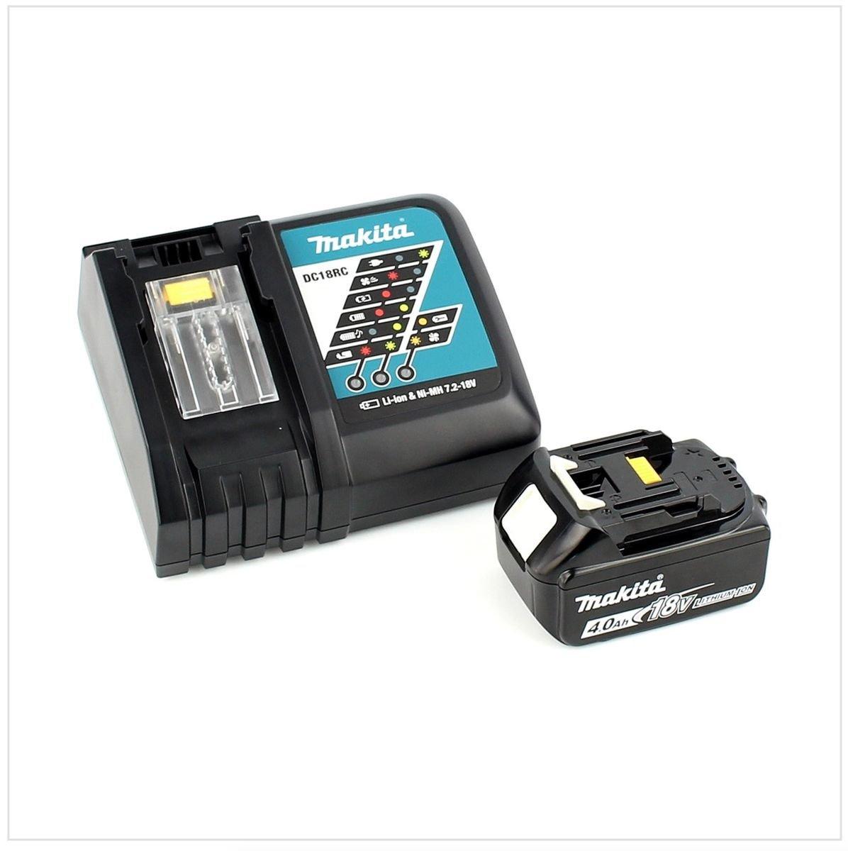 Makita DHP 458 RM1J 18V Li-Ion Perceuse-Visseuse /à Percussion sens fil avec bo/îtier Makpac Chargeur rapide DC 18 RC 1x Batterie BL 1840 4,0 Ah