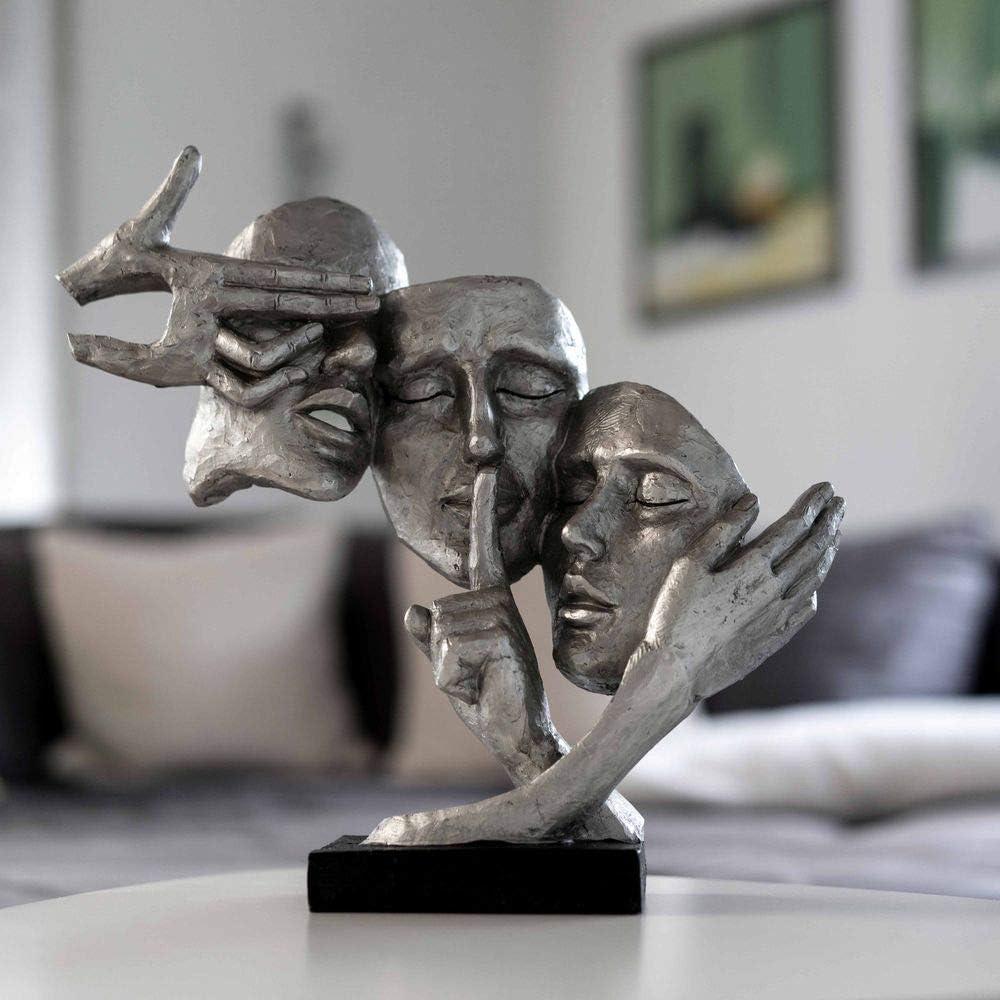 Masque argent/é de qualit/é sup/érieure pour la maison ou comme cadeau danniversaire. Masque de d/écoration Formano