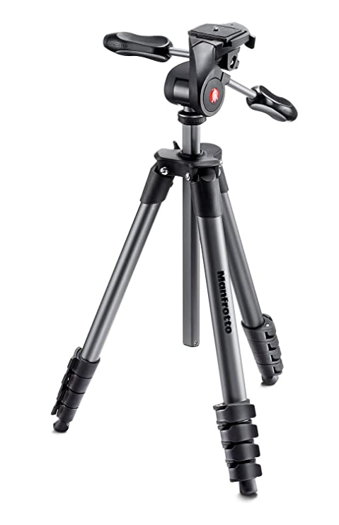 Manfrotto Compact Advanced, Trípode Fotográfico con Rótula 3 Way ...