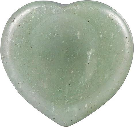 Green Aventurine in Quartz Palm Stone