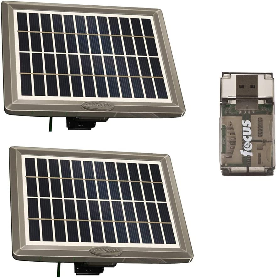 Cuddeback CuddePower Solar Kits, 2-Pack with Mounts Powers J-Series CuddeLink Trail Cameras Indefinitely