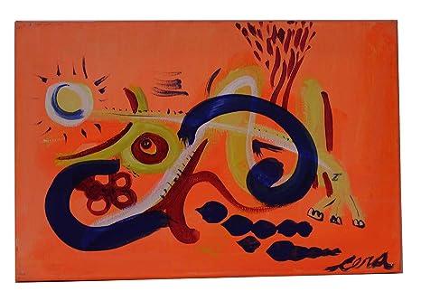 Javier Cera Cuadro Arte Color Dibujo Ciudad30cmx20cm Amazones