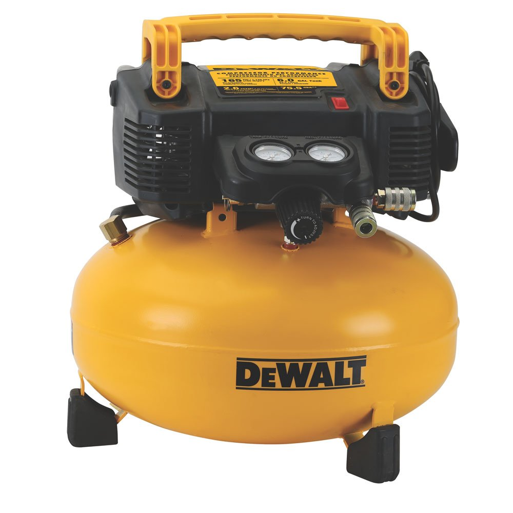 DEWALT Pancake Air Compressor, 6 Gallon, 165 PSI DWFP55126
