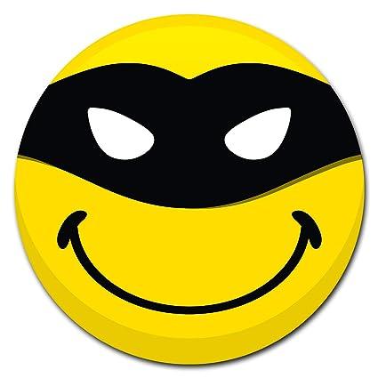 "Indoor//Outdoor Masked Smiley Face Emoji Metal Round Circular Sign 12/"""