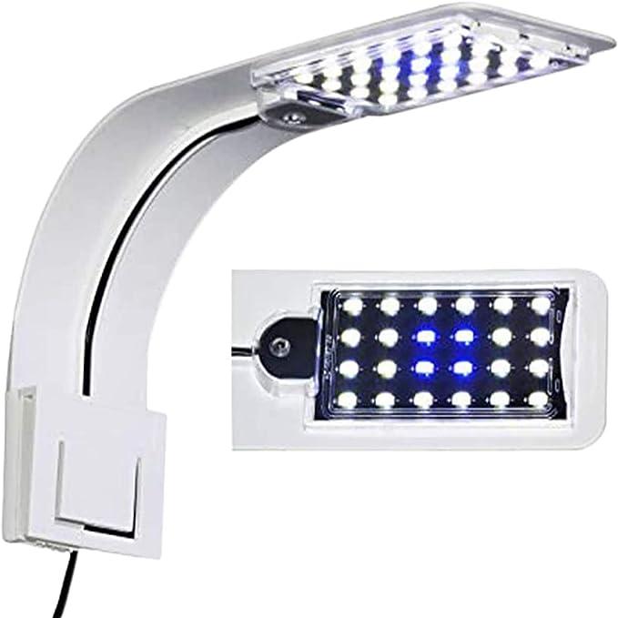 Amazon.com: 10W Super Slim Acuario Fish Tank 5730 LED Luz Clip Lámpara Acuática Iluminación de la Planta (Blanco Cuerpo Blanco+Luz Azul): Home Improvement