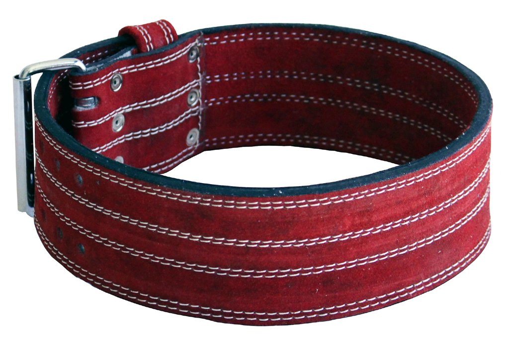 Ader Leather Power Lifting Weight Belt- 4'' Red (Small)