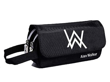 6fe38a531b5 Amazon.com : YOURNELO Alan Walker Faded Canvas Pencil Bag Pen Case ...