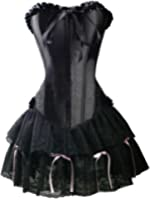 Free UK delivery Stunning Ladies Black Corset Dress (CORSET Bustier + GOTHIC Skirt) , size 6, 8,10,12, 14,16,18,20 By Aimerfeel