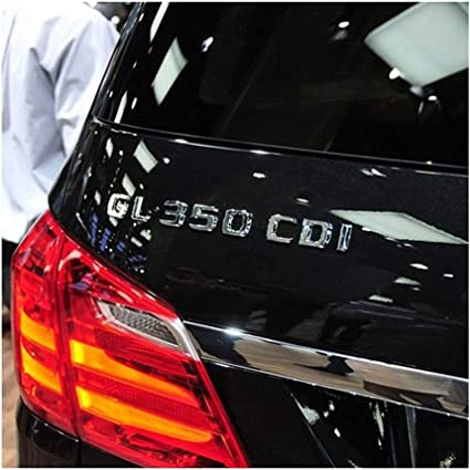 Chrome CDI cvnbdfgjhdfjh AMG CDI CGI TDI 4 Matic couvercles de Coffre Chrome Noir Lettres embl/ème embellit Badges