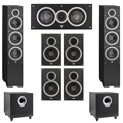 Elac 72 System With 2 Debut F6 Floorstanding Speakers 1 C5 Center Speaker