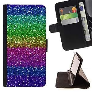 Momo Phone Case / Flip Funda de Cuero Case Cover - Púrpura Rosa Verde brillante brillante - LG G2 D800