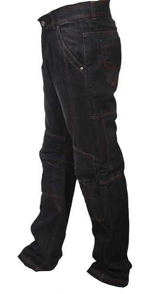 740adba214 newfacelook Hombre Motocicleta Pantalones Moto Pantalón Mezclilla Jeans con Protección  Aramida Negro  Amazon.es  Ropa y accesorios
