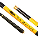 LITTLEPIG Portable Telescopic Fishing Rod Fishing Feeder Fishing pole Tackle for 3.6M-7.2M(YELLOW)