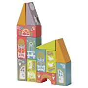 Wise Elk Wooden Toys Wood Blocks Fabulous City, 15 psc.