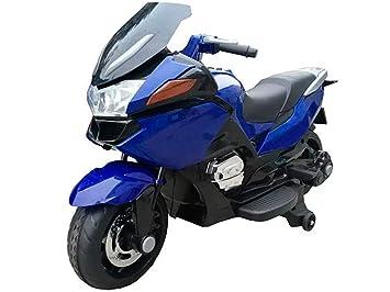 Babycoches Moto eléctrica para niños de 12v, Estilo BMW R 1200RT, ruedines Desmontables,