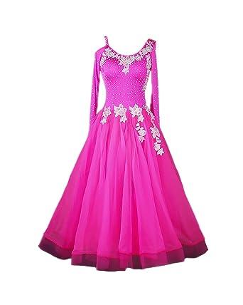 f6ca59c07 SIQIAN Adult/Child Pink Embroidered International Standard Ballroom Dance  Dress Party Dance Evening Modern Dress