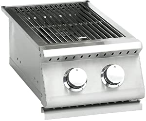 Summerset Sizzler Series Built-In Double Side Burner (SIZSB-2-NG), Natural Gas